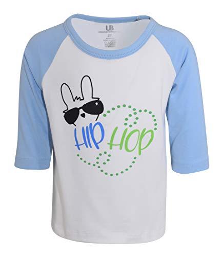 Unique Baby Boys Easter Bunny Hip Hop Raglan Baseball T-Shirt (2t) Blue
