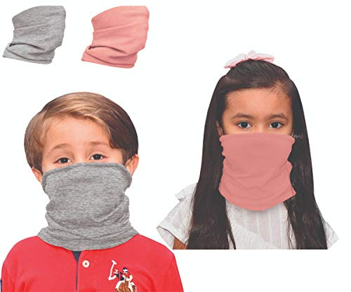 2 pcs Bandana for Kids Youth Gaiter Face Mask Neck Gaiter Scarf Adjustable Reusable Solid Colors Multifunctional Sports (Color 10)