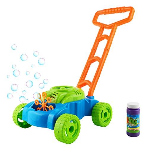 ISO TRADE Seifenblasen Rasenmäher Kinder +118ml Flüssigkeit Batterie Betrieb Bubble 6342