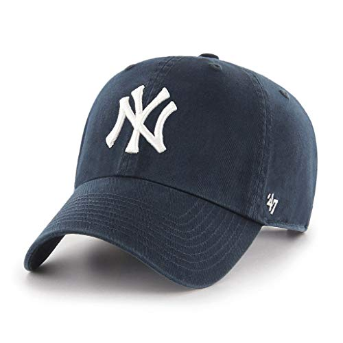 47 MLB New York Yankees Clean Up Baseball Cap, Blue (Navy), One Size