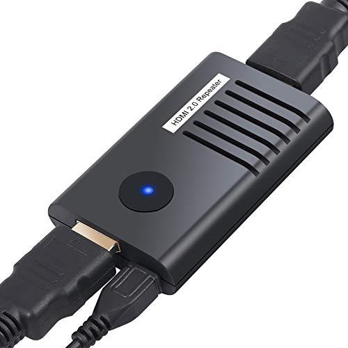 Repetidor HDMI 60M 4K@60Hz 3D Amplificador de Senal HDMI 2.0 YUV 4: 4: 4 HDR Extensor HDMI Compacto Chasis Metalico para PC DVD Sky HDTV PS3 PS4 Satelite Box