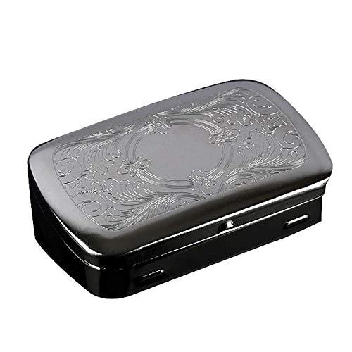 AAXCJ Tabakbox, Edelstahl Tabakbox, Metall Zigarettenetui, Tragbare Zigarettenetui, Personalisierte Aufbewahrung Tabak Box Geschenk,A,8.5 * 6 * 2 cm