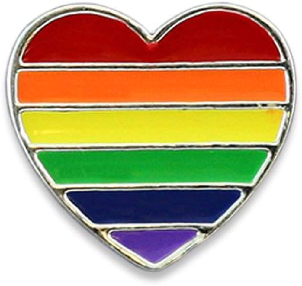 Latest item Arlington Mall Fundraising For A Cause LGBTQ - Heart Pin Rainbow