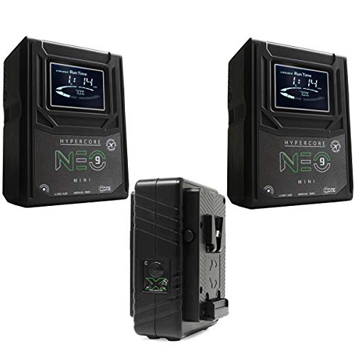 Core SWX 2 Pack Hypercore NEO 9 Mini 98Wh 14.8V 6.6Ah V-Mount Lithium-Ion Battery GPM-X2S Super Compact V-Mount Fast Charger