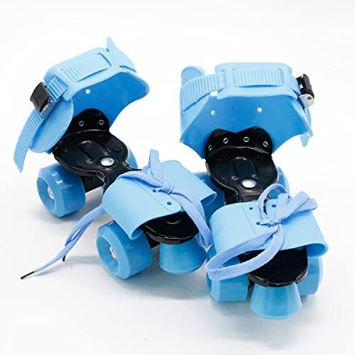 BVVB Rollschuhe für Frauen Anfänger Doppelreihige PU-Räder, verstellbare Rollschuhe für Erwachsene und Kinder, professionelle Indoor Outdoor Rollschuhe für Jugendliche (Color:Blue)