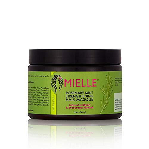 Mielle Organics Rosemary Mint Strengthening Hair Masque Sulfate and Paraben Free 12 Ounces