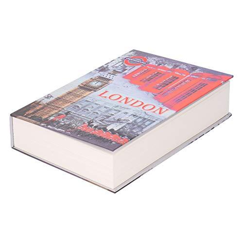 Libro de simulación Caja de bloqueo de seguridad Moneda en efectivo Almacenamiento de dinero Caja fuerte con llaves Cajas fuertes de desvío