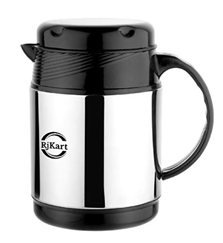 RJKART Stainless Steel Tea Kettle Serving Thermosteel Carafe Coffee Pot (1000 ml)