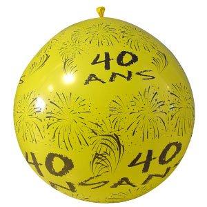 Ballon Géant Anniversaire - 40 Ans -Vert