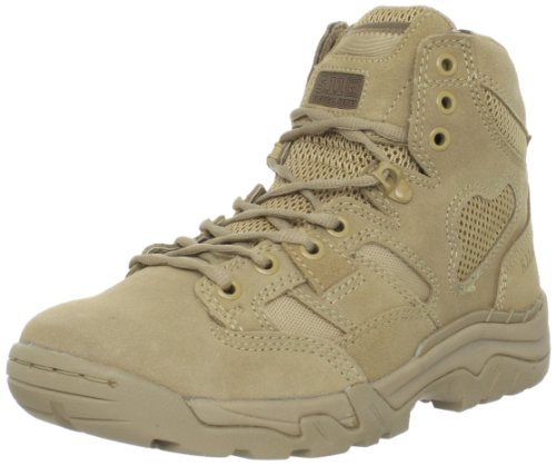 5.11 Tactical Men's Taclite 6-Inch Suede Work Boots, Odor Control Liner, Coyote, 38.5 EU Wide, Style 12030