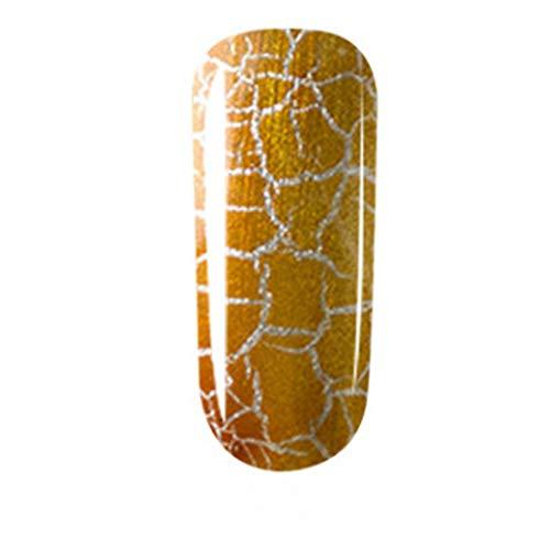 Vernis à Ongles Gel UV Vernis Gel Semi Permanent Ongle Snakell Modèles fissurés Lignes fissurées en caoutchouc pour vernis à ongles fissuré 12 couleurs 16 ml Salon d'art d'ongle
