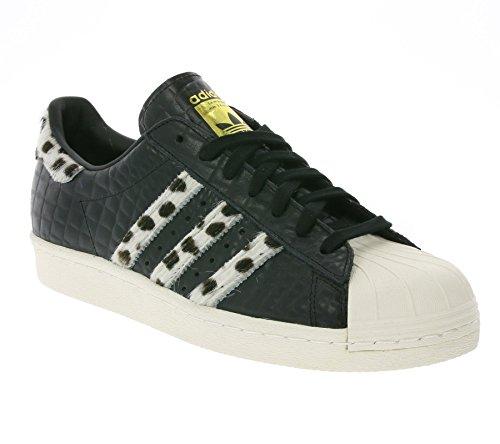 Adidas Superstar 80s Animal, core black/chalk white/gold metallic, 12,5