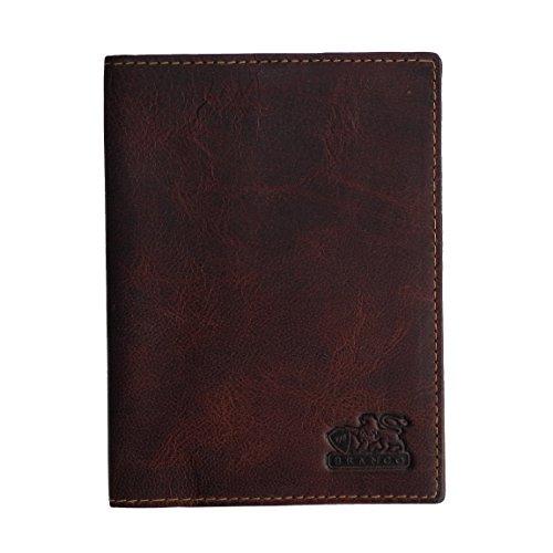 Passhülle-Leder von Branco Pass Etui Reisepasshülle Reisepass Reisepassetui Passport-Hülle Dokumentenhülle - echt Leder (Braun) - präsentiert von ZMOKA®