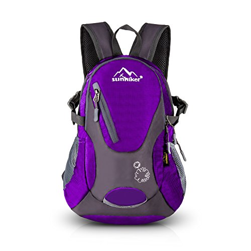 Sunhiker Cycling Hiking Backpack Water Resistant Travel Backpack Lightweight Small Daypack M0714 (Purple)