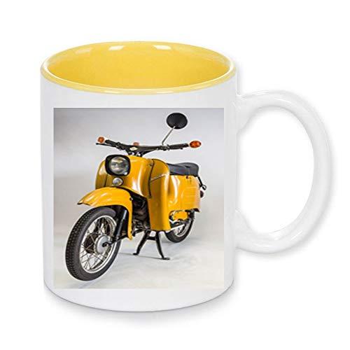 Handmade by GmH Kaffeebecher Simson KR50 & Schwalbe Kult-Moped DDR-Ostalgie rundum Bedruckt