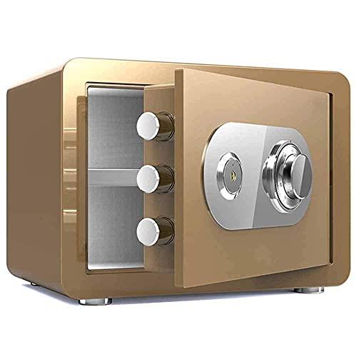 Caja de seguridad de seguridad mejorada, caja de seguridad a prueba de agua a prueba de fuego, caja de seguridad con bloqueo de código mecánico clásico Caja fuerte de contraseña de la oficina en el ho
