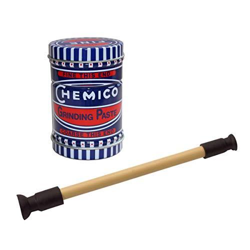 Abro Ventil-Schleifpaste, 100 g, feine und grobe Körnung, inkl. Läppwerkzeug