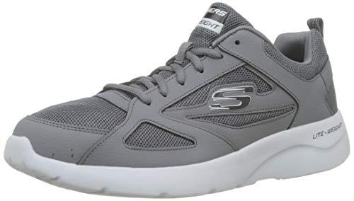 Skechers Men's DYNAMIGHT 2.0-FALLFORD Trainers, Grey (Charcoal/Black Ccbk), 9.5 (44 EU)
