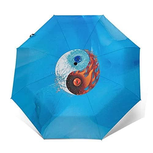 Yin And Yang 折りたたみ傘ワンキー自動開閉超防水・遮光ユニセックス