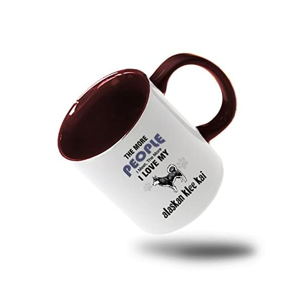 Style In Print More People Meet Alaskan Klee Kai Dog Coffee Tea Colored Inside And Handle Mug White/Red 1
