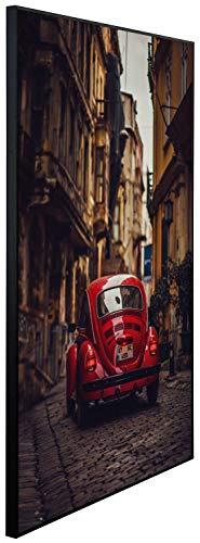 Ecowelle Infrarotheizung mit Bild | 900 Watt | 100x60x2cm | Infrarot Heizung| | Made in Germany | d 137 Auto in Einer kleinen Straße
