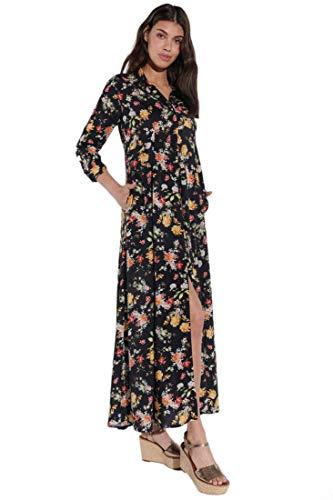 Vestino maxi-jurk voor dames, met bloemenmotief, voor zomerjurk, bloemen/viscose