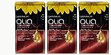 3 x Garnier Olia pelo Coloration 7.22 Oscuro Rosé Ammoniakfrei, 3er Pack