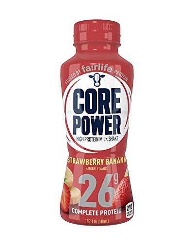 Core Power by fairlife High Protein (26g) Milk Shake, Strawberry Banana, 11.5 Fl Oz (Pack of 12)
