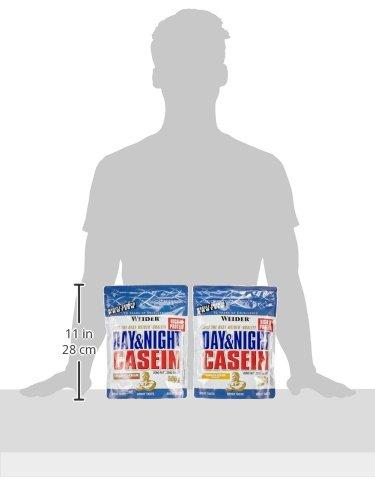 Weider Day und Night Casein Beutel 2er Mix Pack (2 x 500 g) Chocolate Cream/ Vanilla Cream, 1er Pack (1 x 1 kg) - 2