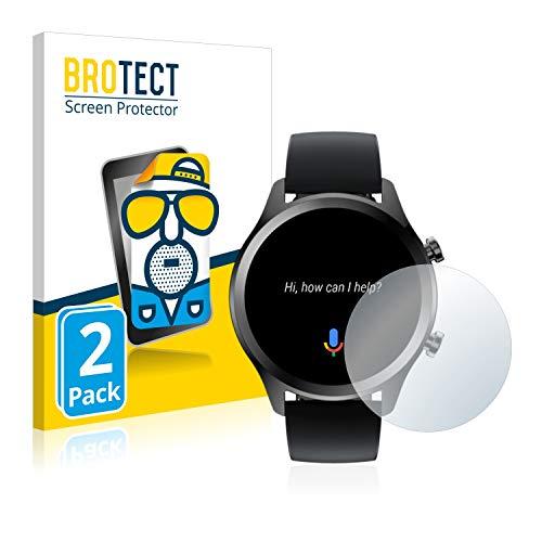 BROTECT 2X Entspiegelungs-Schutzfolie kompatibel mit Mobvoi Ticwatch C2 Plus Bildschirmschutz-Folie Matt, Anti-Reflex, Anti-Fingerprint