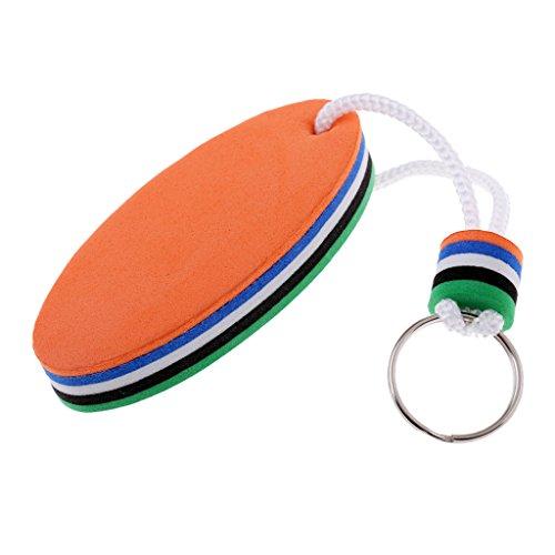 fenteer Surfbrett Form Schlüsselring, schwimmend Wasser selbstschwimmend Schlüssel Ring Kette Marine Segelboot Float, Green & Orange, 8 x 3.5cm