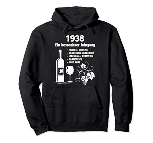 Geburtstag Geschenk Wein Vintage - Besonderer Jahrgang 1938 Pullover Hoodie
