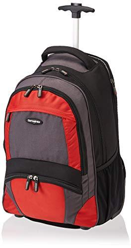 Samsonite Wheeled Backpack, Black/orange, One Size