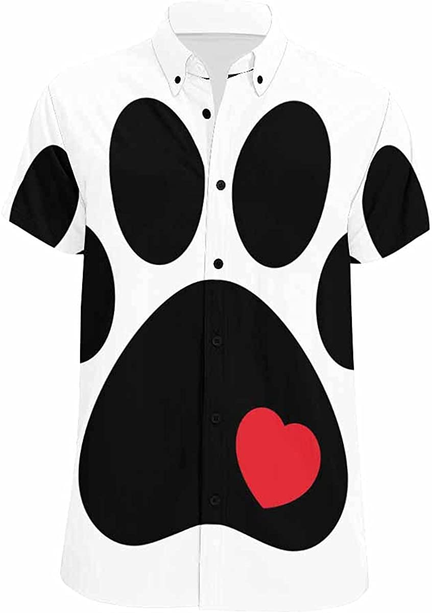 InterestPrint Dog Paw with Challenge the Sales of SALE items from new works lowest price of Japan Heart Standar Printed All Over Summer
