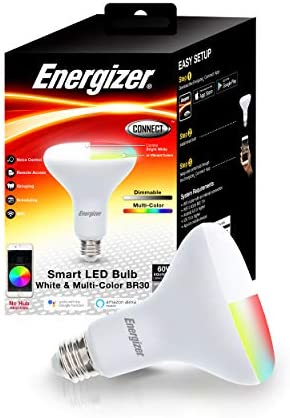 Energizer Connect Smart BR30 LED White & Multi-Color RGB Light Bulb with  Voice Control and Remote Access Through Your Smartphone | Compatible with  Alexa and Google Assistant - - Amazon.com