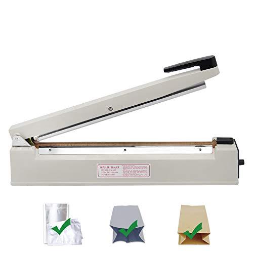 Hanchen Impulse Heißsiegelmaschine 100~500mm Handdrucksiegelmaschine Versiegelungsmaschine für Plastiktüte Mylar Folien Kraftpapier Bag 220V (500mm/ 19,7 Zoll)