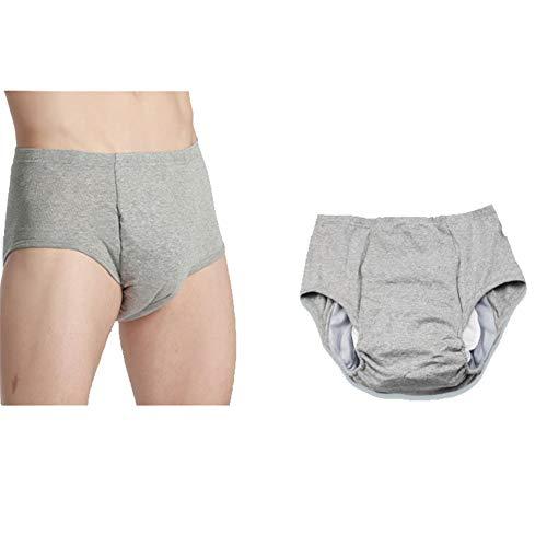 AQzxdc Adult Leakproof Light Inkontinenz-Unterwäsche, waschbare und Wiederverwendbare Damenunterwäsche für Männer und Frauen, Inkontinenz-Slips,XXXL