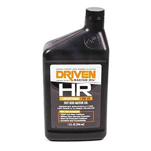Driven Racing Oil 03806 Hr-5 High Zinc Conventional 10W-40 Quart, 1 Quart