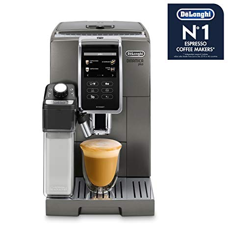 De'Longhi Dinamica Plus Fullly Automatic Coffee Machines, Silver, ECAM37095T