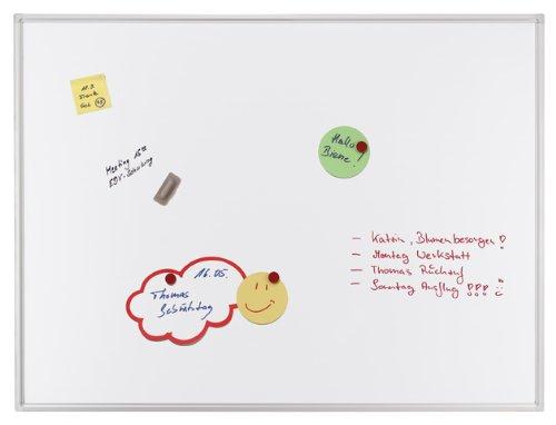Franken SC4104 Schreibtafel (Magnethaftend, Alurahmen mit Ablageleiste (200 x 100 cm) schutzlackiert) weiß