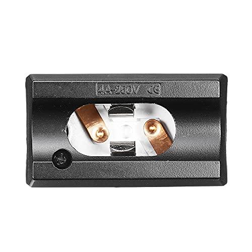 Zay Luay Luci AC85-250V 4A S14D. Adattatore della Lampadina della Lampadina della Parete del Titolare della Lampada Nera