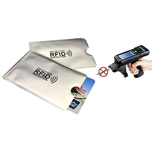 Kingsie スキミング防止 カードケース 10枚セット RFID 磁気スキミング防止 磁気防止 カードカバー 薄型 防水 データ保護 (シルバー)