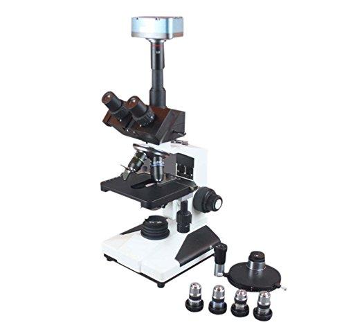 Radical 2500x LED High Power Trinocular Medical Water Bateria Sperm Turret Phase Contrast Microscope w Live 3Mpix Win MAC Camera