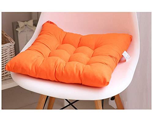 GELing Cojines para Silla Espesar Transpirable Cojín Cuadrado para Sala De Estar Dormitorio Oficina Naranja 45X45CM