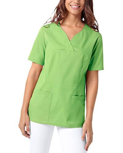 CLINIC DRESS Schlupfkasack Damen Kasack für die Pflege 1/2 Arm Regular Fit Länge ca. 70 cm 50% Baumwolle 95 Grad Wäsche apfelgrün M