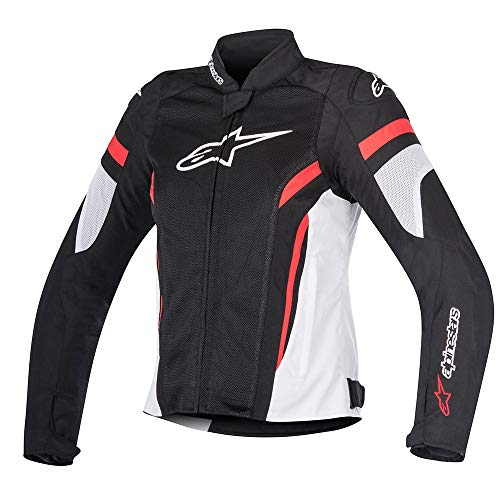 Alpinestars Chaqueta moto Stella T-gp Plus R V2 3310517123, Jacket Black White Red, Negro/Blanco/Rojo, S
