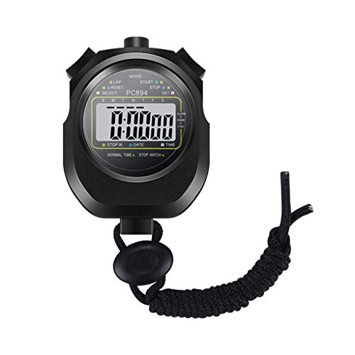WMYATING Operación precisa de una tecla, Pantalla Grande cl Handheld Handheld Professional Handheld Temporizador Digital Temporizador Cronógrafo Entrenamiento Deportivo Reloj electrónico
