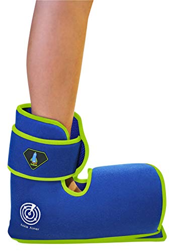 BodyMoves Kid's Ankle brace support PLUS Hot and Cold Ice Pack (Sweet Pink, SMALL for Little Kids (US 12-3))