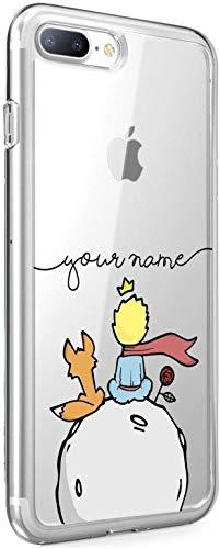 Suhctup Funda Compatible para iPhone 7/iPhone 8 Fundas, Transparente Dibujos Protección Carcasa Suave Silicona Gel TPU Bumper Ultra-Delgado Antigolpes Case Cover para iPhone 7/8(Pequeño Príncipe 2)