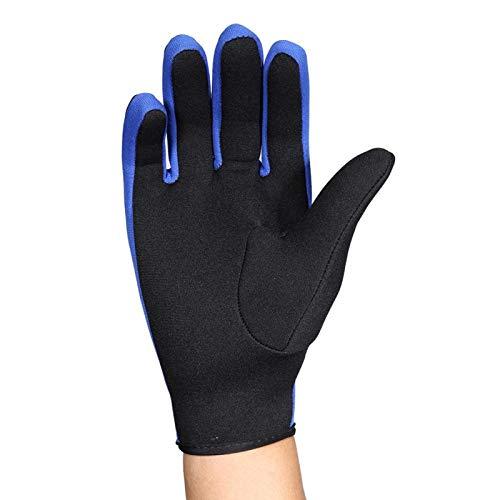 Guanti da surf, materiale in neoprene e nylon,resistenti all'usura,morbidi,direttamente sulla pelle, mantengono caldo,guanti per sport acquatici, per immersioni,nuoto invernale(dark blue, M)